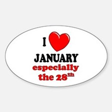 January 28th Oval Decal