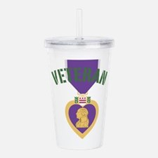 Purple Heart Veteran Acrylic Double-wall Tumbler
