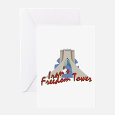 Irans Freedom Tower Greeting Cards