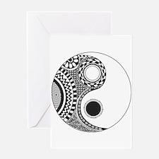 Yin Yang Greeting Cards