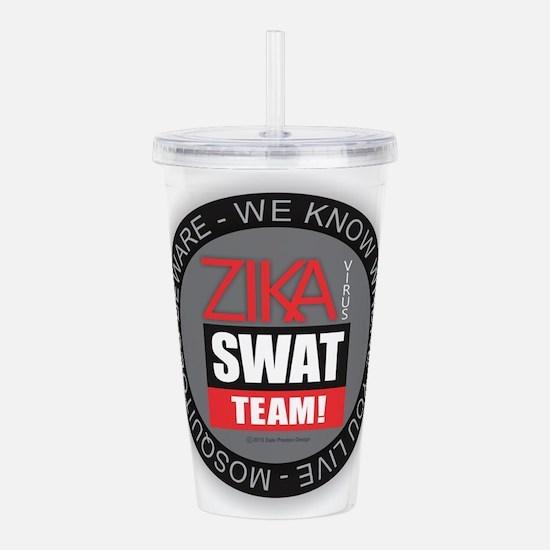 Zika Virus Swat Acrylic Double-wall Tumbler