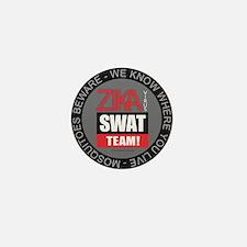 Zika Virus Swat Mini Button
