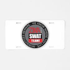 Zika Virus Swat Aluminum License Plate