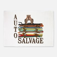 Auto Salvage 5'x7'Area Rug