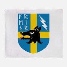 Fenrir Runes Crest Throw Blanket