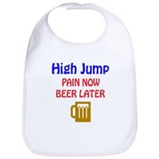 High Jump Pain now Beer later Bib