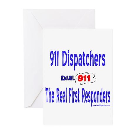 911 Dispatcher Responder Gift Greeting Cards (Pk o