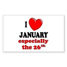 January 26th Rectangle Decal