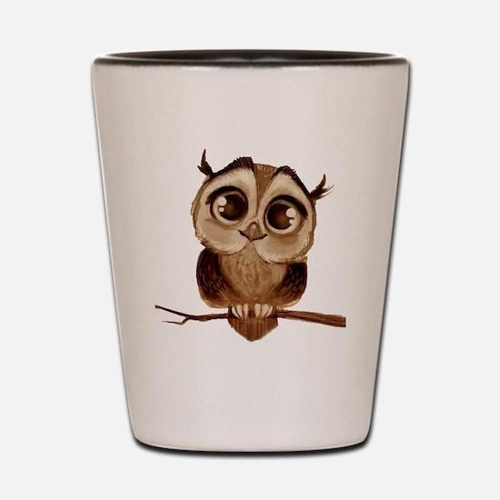 Cool Owl Shot Glass