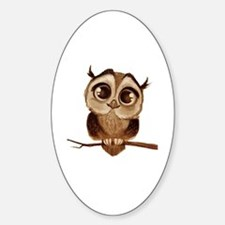 Cute T bird mens Sticker (Oval)