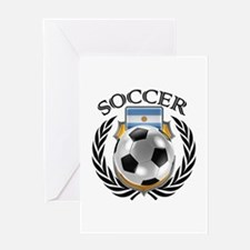 Argentina Soccer Fan Greeting Cards