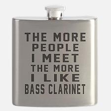 I Like More Bass Clarinet Flask