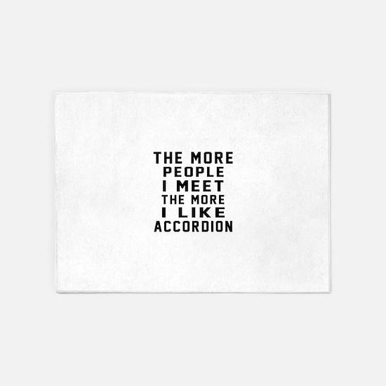 I Like More Accordion 5'x7'Area Rug
