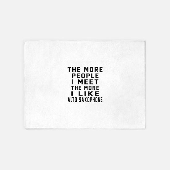 I Like More Alto Saxophone 5'x7'Area Rug