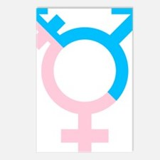 Cute Male female symbol Postcards (Package of 8)