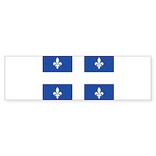 Quebec Flag Bumper Bumper Stickers