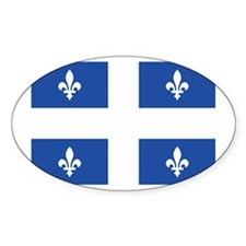 Quebec Flag Oval Decal