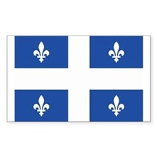 Quebec Flag Rectangle Bumper Stickers