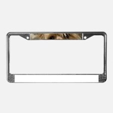 Yorkie Puppy License Plate Frame