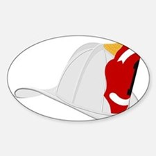 Traditional Fire Department Helmet White Decal