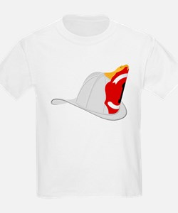 Traditional Fire Department Helmet White T-Shirt