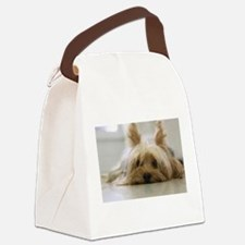 Yorkie Dog Canvas Lunch Bag