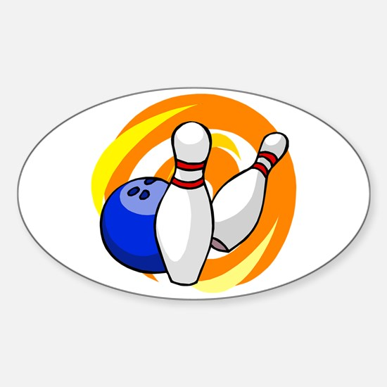 Bowling ball with pins logo Decal