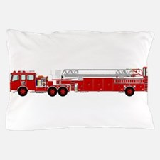 Fire Truck - Traditional ladder fire t Pillow Case