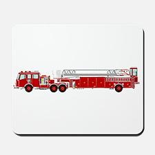 Fire Truck - Traditional ladder fire tru Mousepad