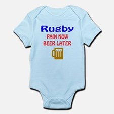 Rugby Pain now Beer later Infant Bodysuit