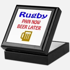 Rugby Pain now Beer later Keepsake Box