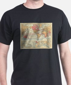 Vintage Map of The World (1895) 2 T-Shirt