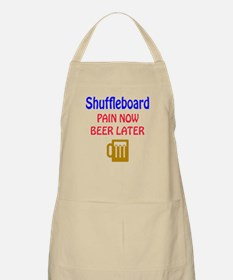 Shuffleboard Pain now Beer later Apron