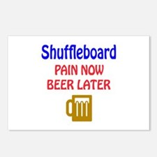 Shuffleboard Pain now Bee Postcards (Package of 8)
