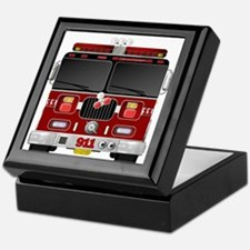 Fire Engine - Traditional fire engine Keepsake Box