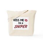 Kiss Me I'm a SNIPER Tote Bag