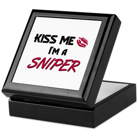 Kiss Me I'm a SNIPER Keepsake Box