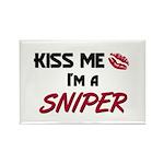 Kiss Me I'm a SNIPER Rectangle Magnet (10 pack)