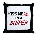 Kiss Me I'm a SNIPER Throw Pillow