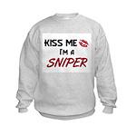 Kiss Me I'm a SNIPER Kids Sweatshirt