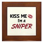 Kiss Me I'm a SNIPER Framed Tile