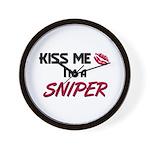Kiss Me I'm a SNIPER Wall Clock