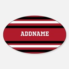 Red and Black Sports Stripes Person Decal