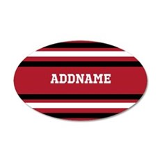 Red and Black Sports Stripes Wall Decal