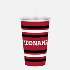 Red and Black Sports S Acrylic Double-wall Tumbler