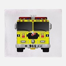 Fire Engine - Traditional fire engin Throw Blanket