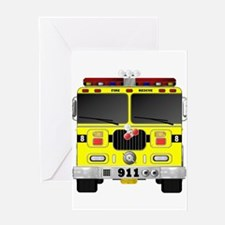 Fire Engine - Traditional fire engi Greeting Cards