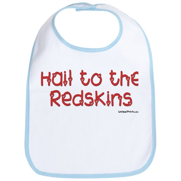 Hail to the redskins bib by uniqueprintz for Hail yeah redskins shirt