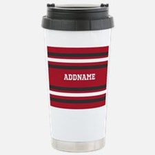 Red and Gray Sports Str Stainless Steel Travel Mug