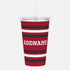 Red and Gray Sports St Acrylic Double-wall Tumbler